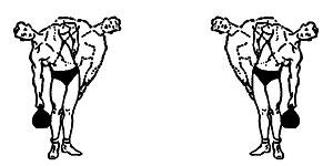 Наклоны в стороны с гирей